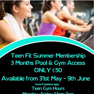 Teen Summer Membership Gym Membership