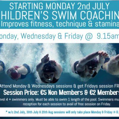 Summer Childrens Swim Coaching