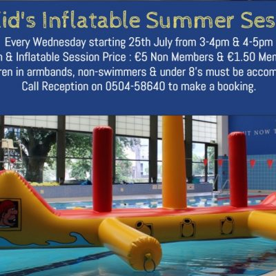 Inflatable Pool Sessions – Commencing 25th July