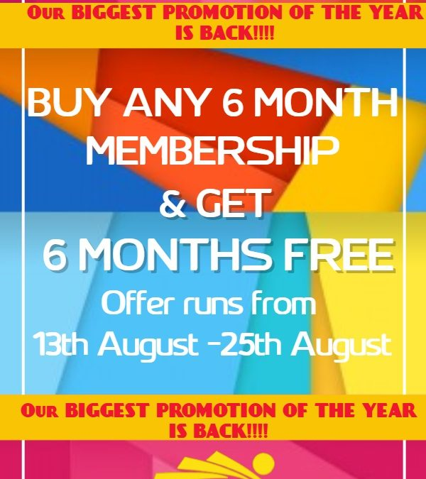 Buy 6 Months & Get 6 Months Free