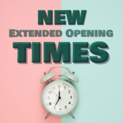NEW Extended Opening Times – commencing 4th September
