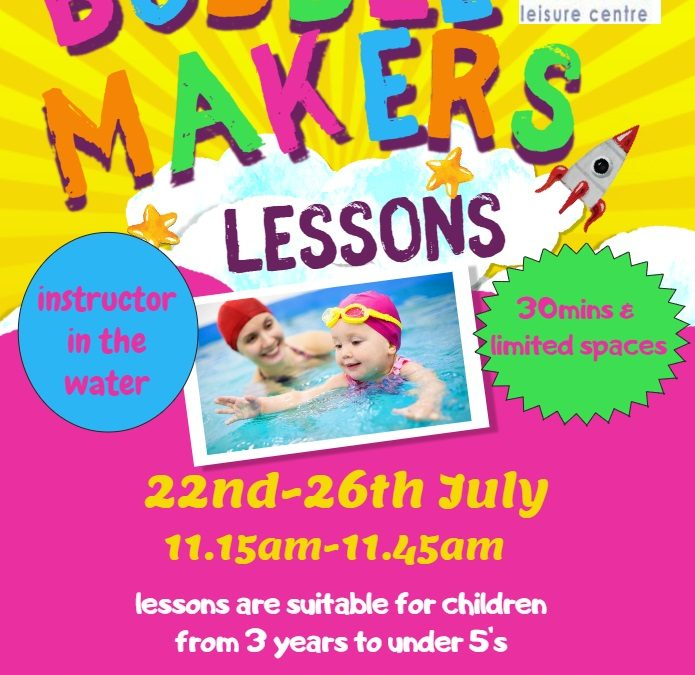 Bubblemaker lessons 3-5yr olds
